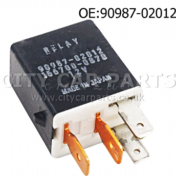 Toyota Avensis Corolla Yaris Black Multi-Use  Relay Denso 90987-02012 156700-0870
